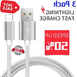 Braided USB Charger Cable Data Sync Cord For iPhone 7 Plus i