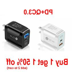 Bufferfly 20W PD + QC 3.0 USB Fast Quick Charge Charger iPho