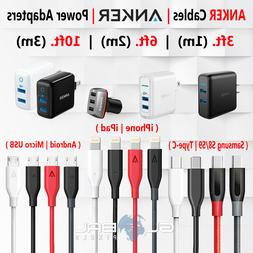 Anker Cables Lightning OR Micro USB OR Type-C Charger 3/6/10