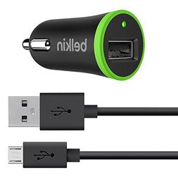 Belkin Car Charger with 4-Foot Micro USB ChargeSync Cable, 2