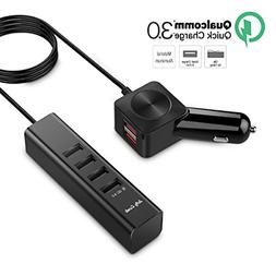 Car Charger Multiple USB Phone Charger: Jelly Comb Aluminium
