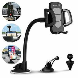 Car Phone Mount Charger Holder, Universal Gooseneck, Upgrade