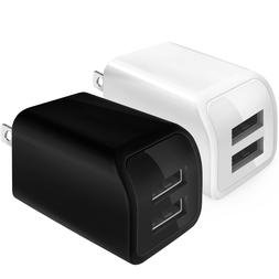 Cell Phone Fast Charger US Wall Plug Travel Dual USB Port Po