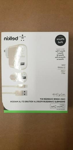 Belkin Charger Kit Home & Car USB Cable For iPhone 11 8 7 X