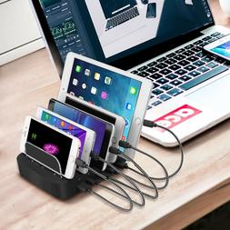 Charging Station, 5-Port USB Charging Dock Cell Phone Dockin
