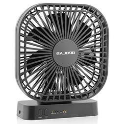 OPOLAR 5 Inch Desk Fan with Timer, USB or AA Battery Operate