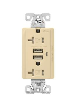 Cooper Wiring Devices TR7746V-BOX Combination USB Charger wi