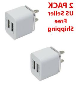 Dual 2-Port USB Wall Charger Travel Charger 2.1/1A for IPhon