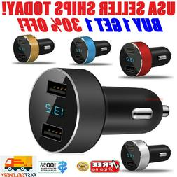 12V Dual 3.1A USB Car Charger 2 Port Adapter LED Cigarette S