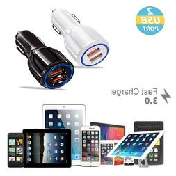 dual usb 3 1a car charger adapter
