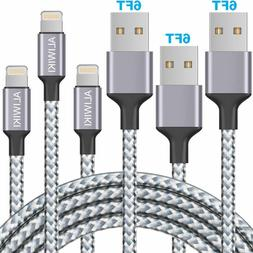 3 Pack 6Ft Fast Charging Braided Charger Cable Cord Sync App