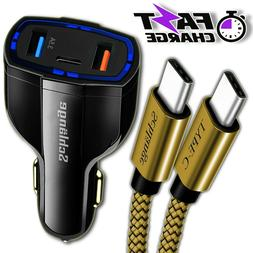 Fast Quick CAR Charger USB With Type C connector for Android