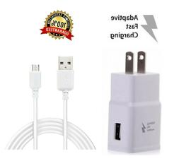 Fast Rapid Wall Charger + Charging Cable For Samsung Galaxy
