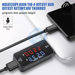 <font><b>USB</b></font> Current Voltage Charging Detector 4-