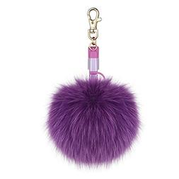 Fur Pom Pom Ball Keychain Charger Cable,Milletech 2in1 Light