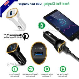 QC3.0 Fast Charging USB Car Charger Adapter For iPhone Samsu