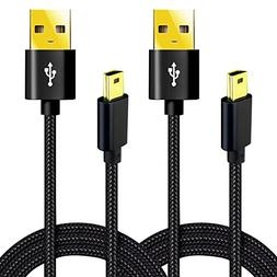 Mini-USB Cable 6.6 Ft USB 2.0 Type A to Mini-B Charging Cord