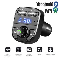Handsfree Bluetooth Car Kit FM Transmitter LCD TF Audio MP3