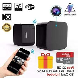 Hidden Camera USB Wall Charger - WiFi Spy Cam on Nanny, Pet,