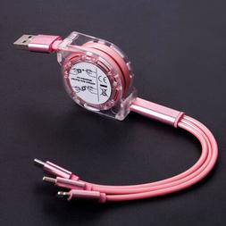 HIGH Quality Multi USB Charger Cable Retractable 3 in 1 Mult