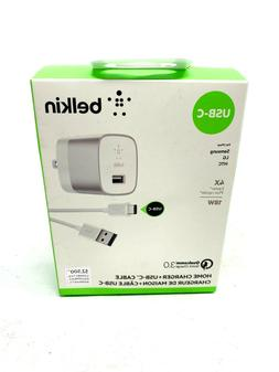 Belkin Home Charger+USB-C Cable 4X FASTER 18W For Samsung/LG