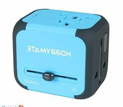 HOBBYMATE International Travel Charger Adapter Dual-USB Wall