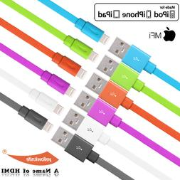 For iPhone 7 / 7Plus 6s 5S 5S SE Charger Cable MFI FLAT Ligh