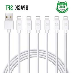 Atill iPhone Charger 6Pack 3FT USB Lightning Cable Charging