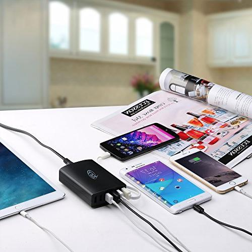Key 12A 6-Port Charging Station iPhone, and