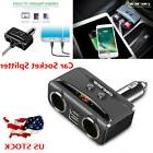 12V Car Charger Cigarette Lighter Double Power Adapter Socke