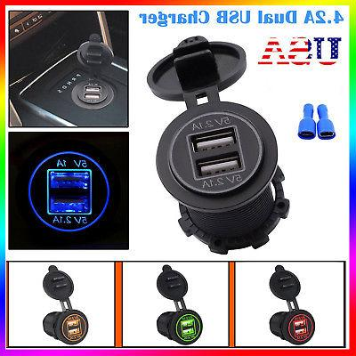 4.2A Dual Cigarette Charger