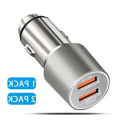 2 Dual Port USB Fast Car Charger 36W Quick Charge 3.0 for Ap
