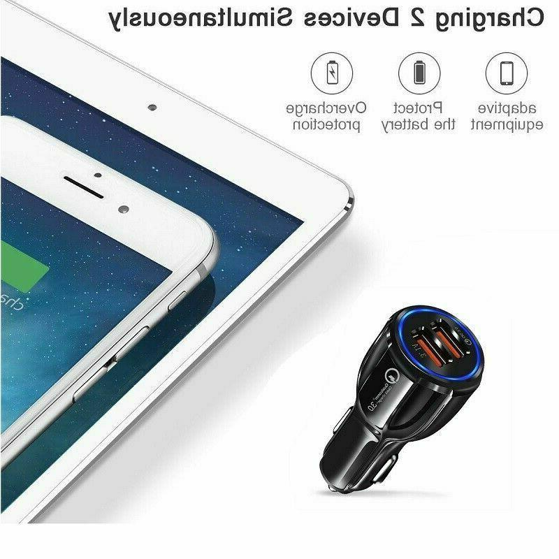 2 Port USB Fast Car Charger 3.0 Dual USB Android