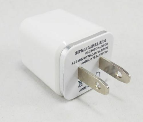 2 X 2.1/1A USB Charger for iPhone