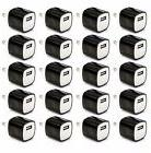 20x Black 1A Universal USB Travel Wall Charger Power Adapter