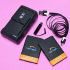 2x AceSoft 3070mAh Battery Dock Charger USB Cable Stylus for