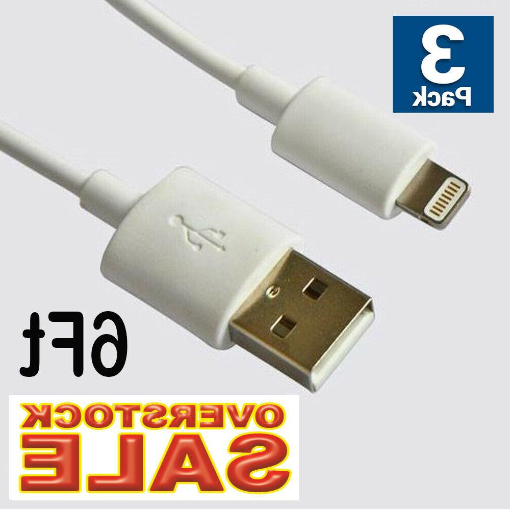 3x Cable Charger 6Ft 2M for iphone 11 X 7