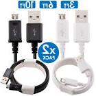 2x PACK Micro USB Fast Charger Data Sync Charging Cable Sams