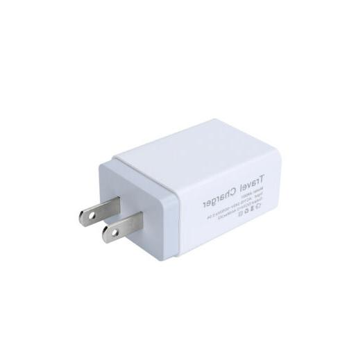 Dual 2.4A US Travel Wall Charger Charging