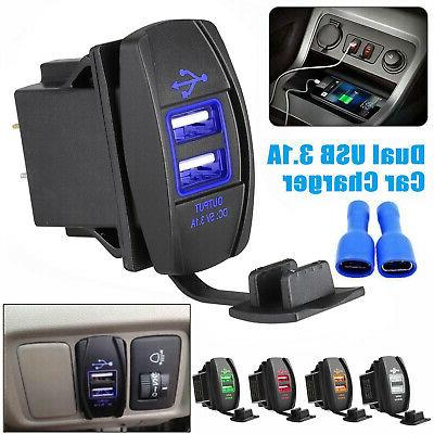 3 1a dual usb socket charger power