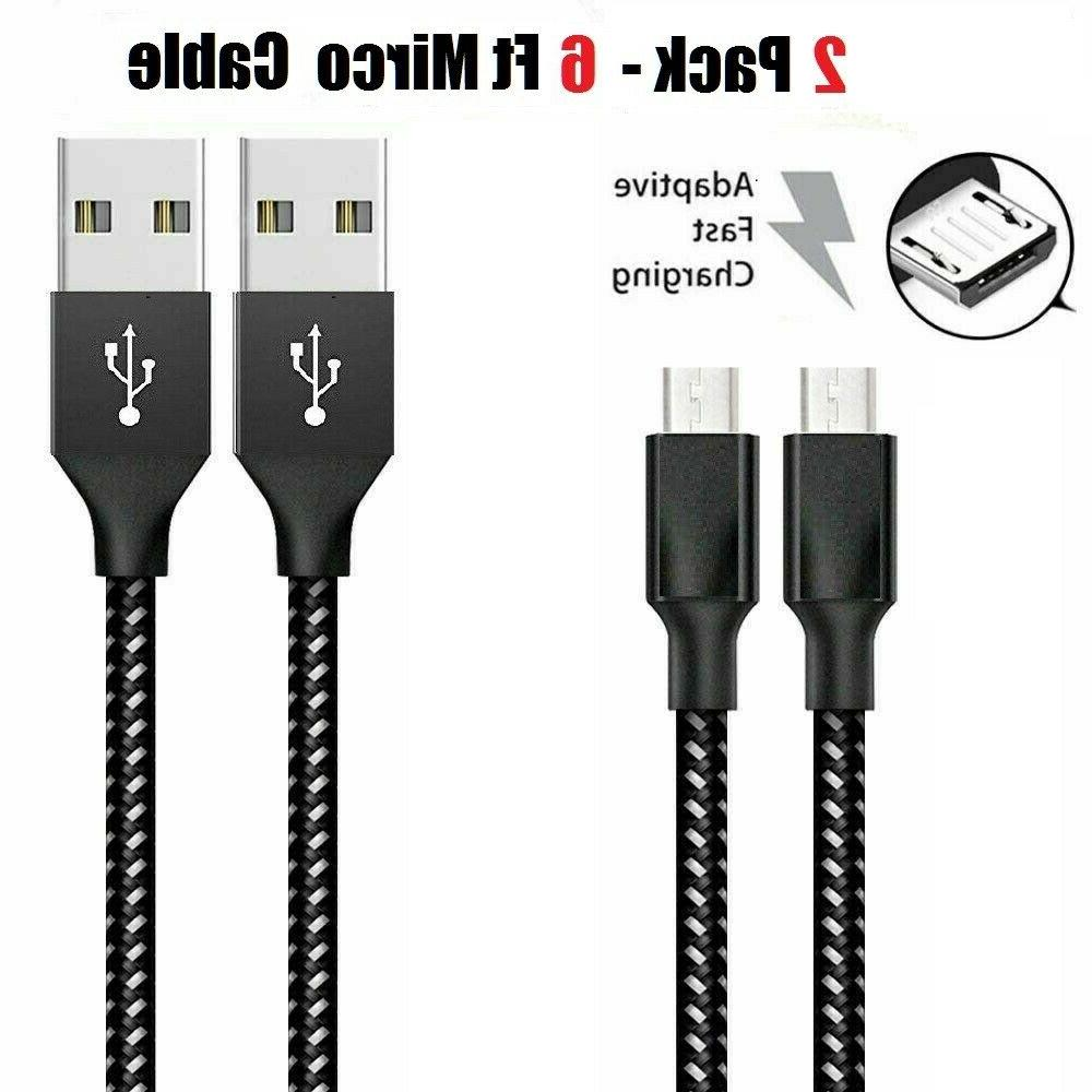 3/6/10Ft Micro Charger Data Sync Cable Cord For Samsung
