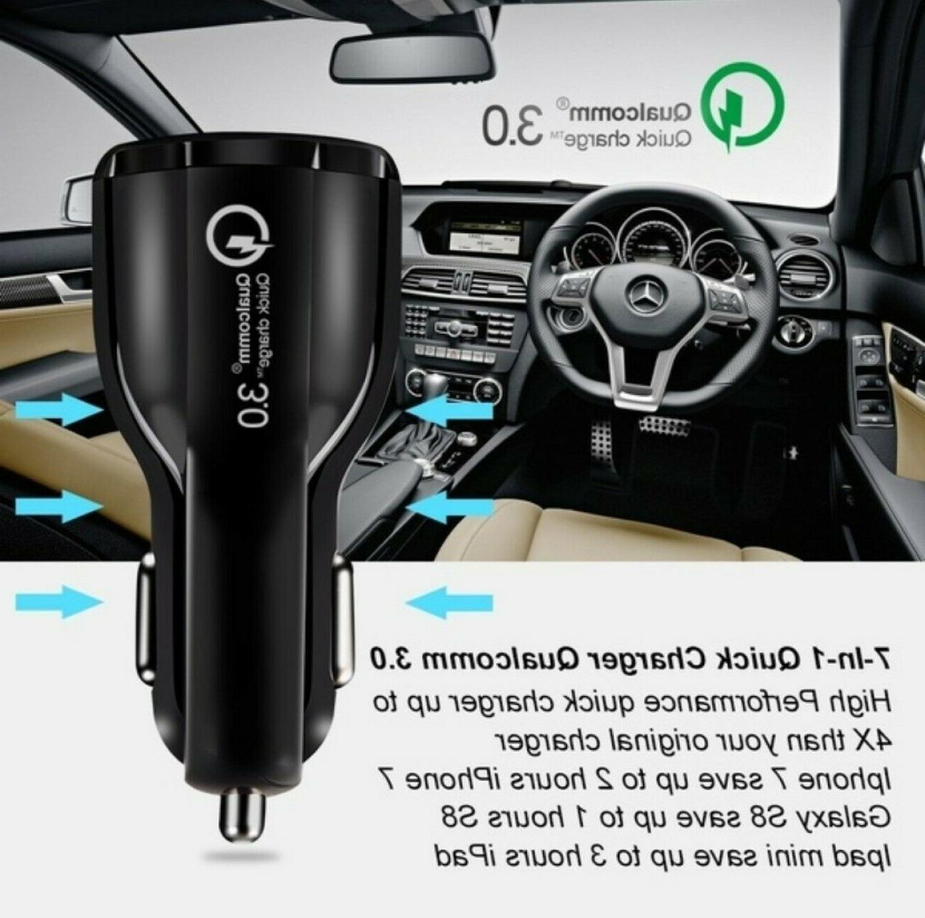 3 Port QC Car Charger for iPhone Cell