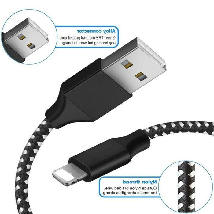 3-PACK USB Data Charging Charger For Apple iPhone 5 7 Plus
