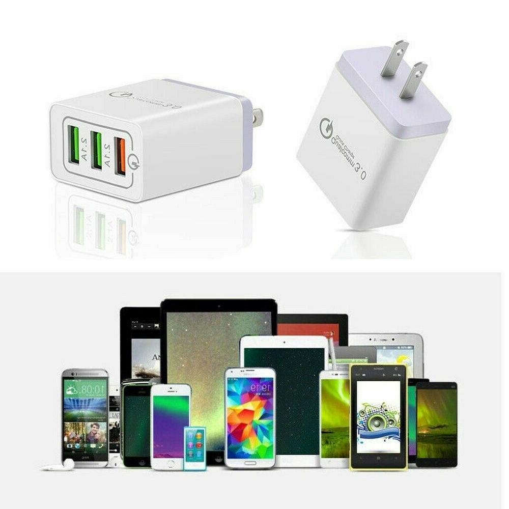 3 Fast Quick USB Charger Hub Adapter
