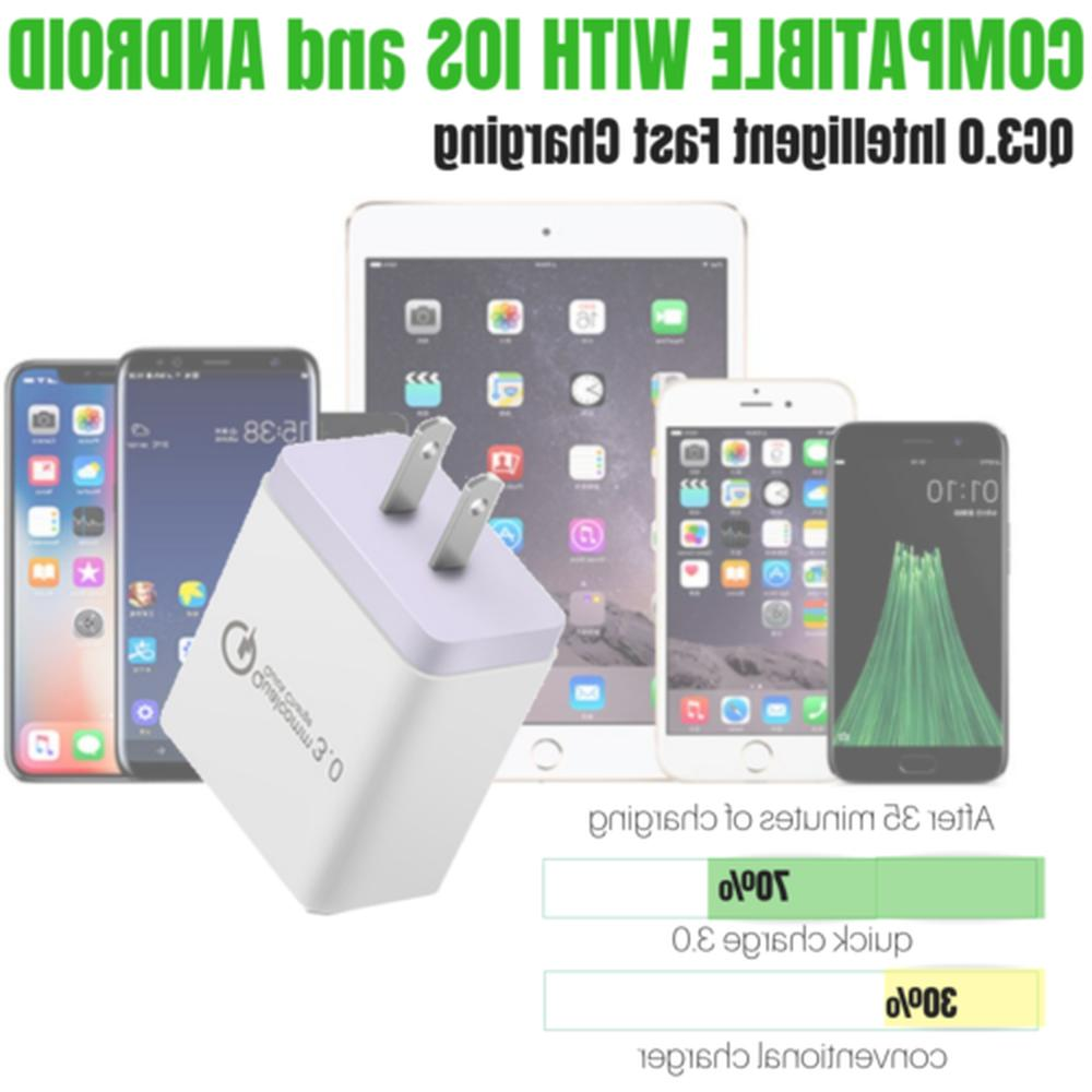 3 QC 3.0 Fast USB Charger Hub Charger Adapter
