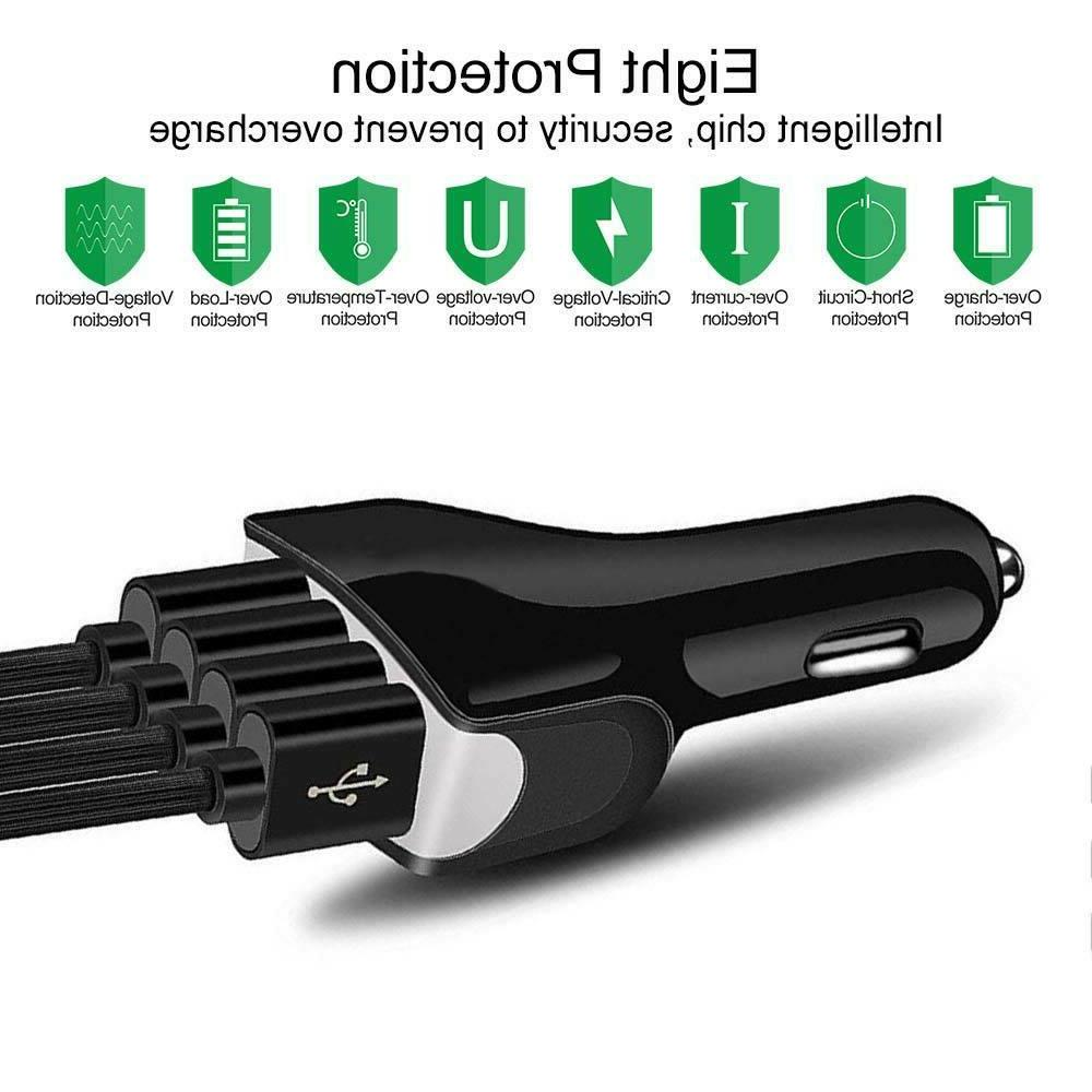 4-Port USB 4.2A Car Charging Charger for Phone