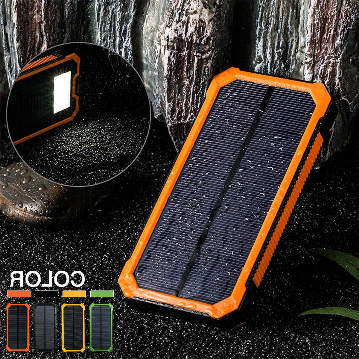 300000mah solar charger power bank portable dual