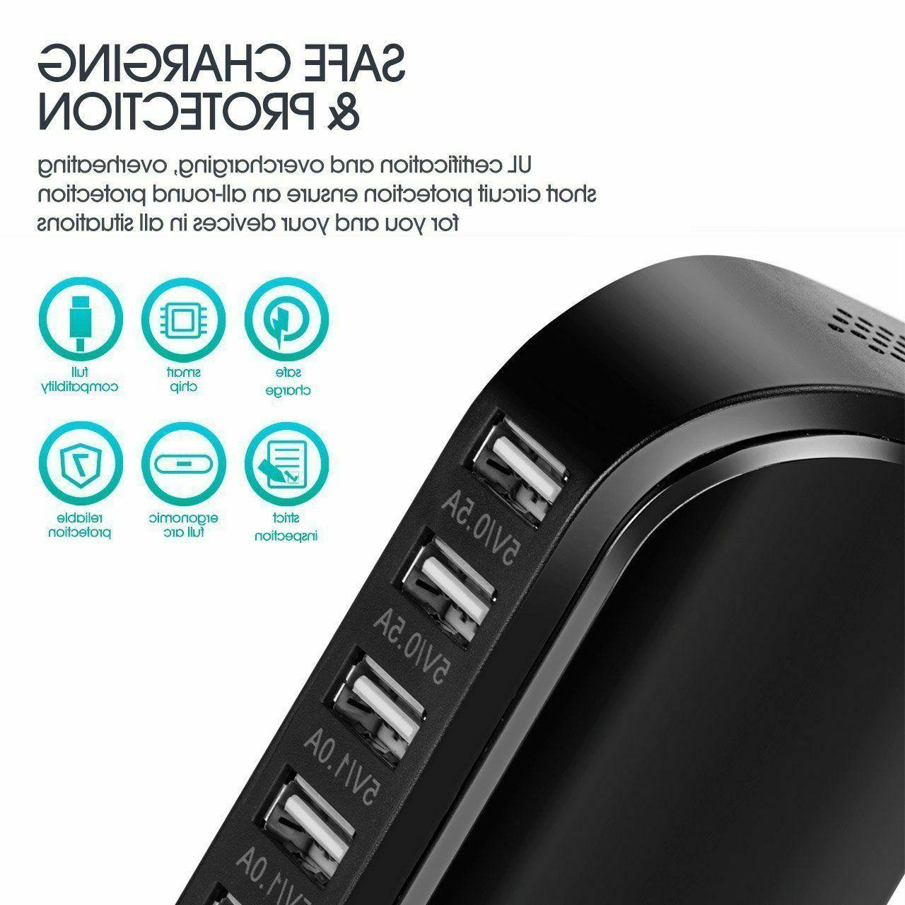30W Multi 6 USB Charging Hub iPhone
