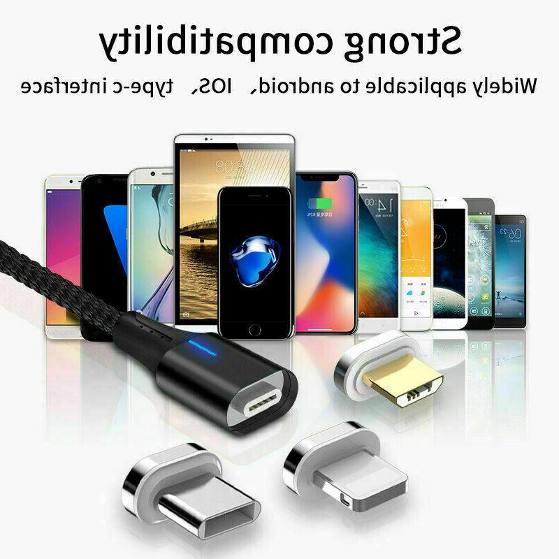 3A Magnetic Charger Cable IOS/ Micro /USB Fast Charging Cable