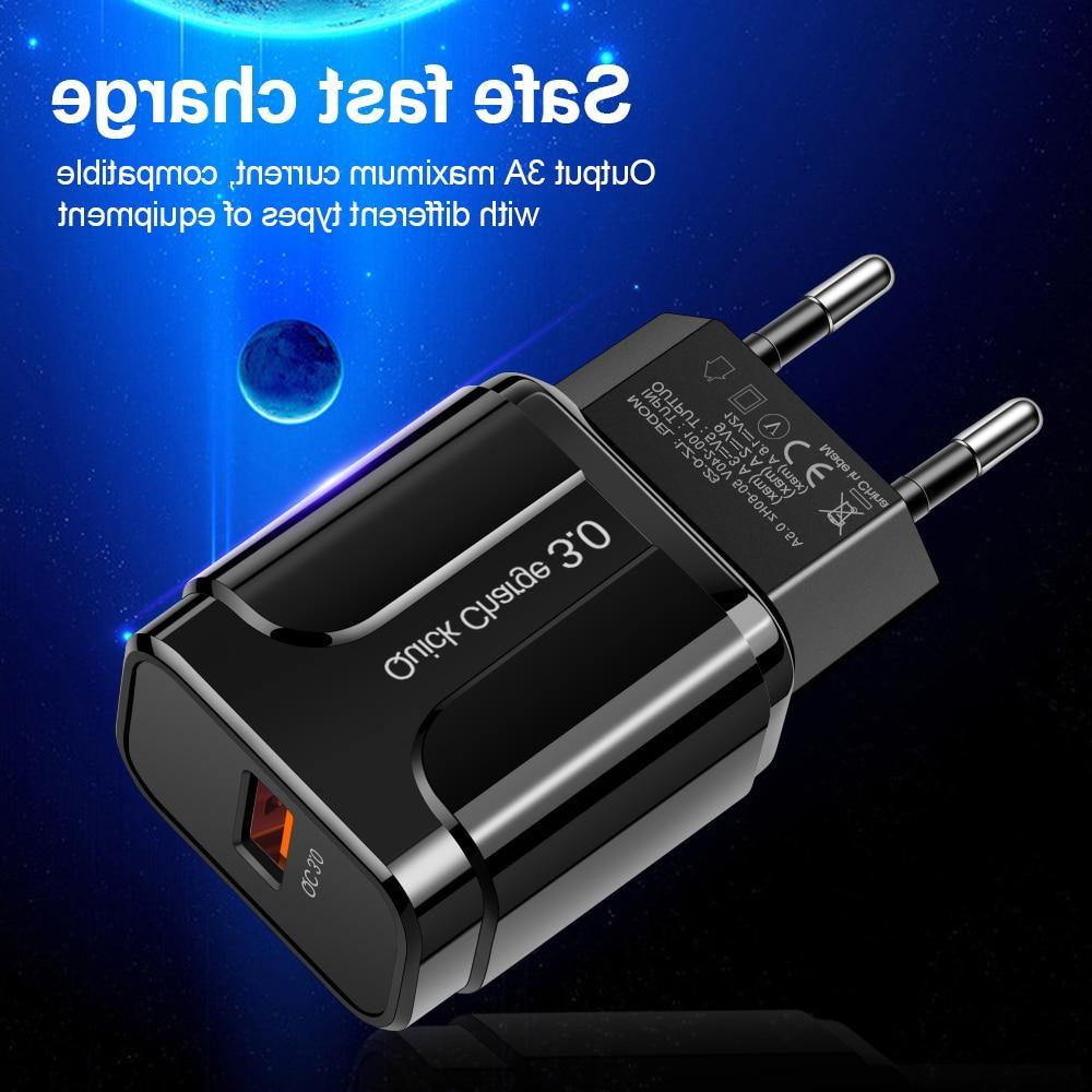 3A Charge 3.0 USB <font><b>Charger</b></font> EU Mobile <font><b>Phone</b></font> for <font><b>iPhone</b></font> Charging for Samsung